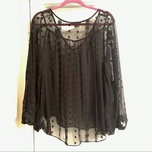 Zoa Neve Embroidered Silk Batwing Blouse